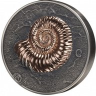Ammonite Evolution of Life 1 Kilo Antique Finish Silver Coin Mongolia 2018 20000 togrog
