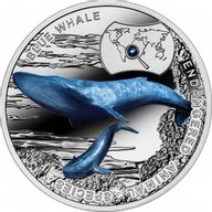 Niue 2015 1$ Blue Whale - Endangered Animal Species 1/2 oz Proof Silver Coin