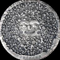 The Divine Comedy - Inferno Dante Alighieri 700th Anniversary 1 kilo Antique finish Silver Coin 10000 Francs CFA Cameroon 2021