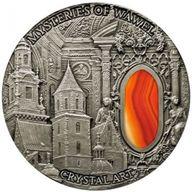Niue 2013 2$  Mysteries of  Wawel  Crystal Art II 2 Oz  Antique Finish Coin