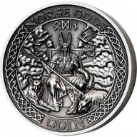 Cook Islands 2015 10$ The Norse Gods - Odin Antique finish Silver Coin