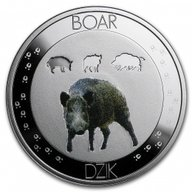 Symbols Of Nature - Wild Boar Proof Silver Coin 10 g 1$ Niue 2016