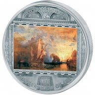 """William Turner """"Ulysses"""" Masterpieces of Art 3 oz Proof Silver Coin 20$ Cook Islands 2017"""