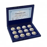 Belarus Zodiac 2013  Proof Silver Set 12x 20 rubles Belarus 2013
