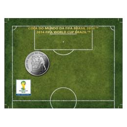 Brazil 2014 2 Reais - Dribbling 2014 FIFA WORLD CUP Brazil Cu/Ni  Coin