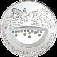 Fiji 2012 1$ Swiss - Quartz Treasures of Mother Nature Proof Silver Coin