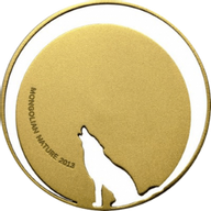 Mongolia 2013 500 togrog Crying Wolf Mongolian Nature 2013 1/2 oz Proof Silver Coin
