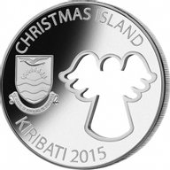 Kiribati 2015 20$ Christmas Angel Cut-Out Coin 2oz Proof Silver Coin