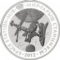 Kazakhstan 2012 500 tenge Space Station «MIR». Space  Proof Silver Coin