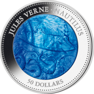 Cook Islands 2014 50$  Jules Verne - The Nautilus  5 oz Proof Silver Coin