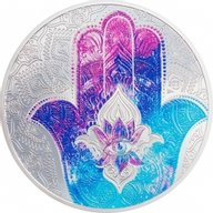 Hand of Hamsa 1 oz Proof Silver Coin 5$ Palau 2021