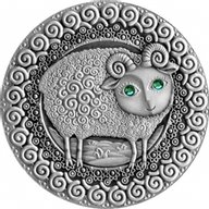 Belarus 2009 20 rubles Aries UNC Silver Coin
