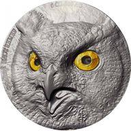Owl  Edition Signature 2 x 5 oz Antique finish Silver Set 2 x 5000 francs Ivory Coast 2021