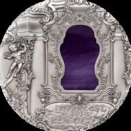 Rococo Tiffany Art UNC Silver Coin 10$ Palau 2010