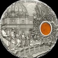 Palau 2013 10$ St. Peters Basilica  Mineral Art 2 oz UNC Silver Coin