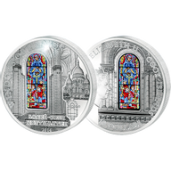 Cook Islands 2014 10$ Sacre Coeur Basilica (France) Windows Of Heaven Proof-like Silver Coin