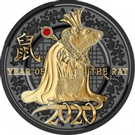 Year of the Rat Year of the Success Proof Silver Coin 500 Francs Cameroon 2020
