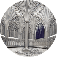 Palau 2017 50$ Wells Cathedral Decorated Lady Chapel Chapter House Tiffany Art 1 kg Antique finish Silver Coin