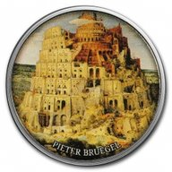 The Tower of Babel Pride of European Painting Proof Silver Coin 500 Francs Cameroon 2017