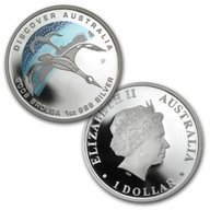 Discover Australia - The Dreaming - Brolga  Proof Silver Coin 1$ Australia 2009