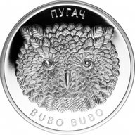 Belarus 2010 20 rubles Eagle Owl Bubo Bubo Proof Silver Coin