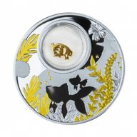 Goldfish Lucky Coins Proof Silver Coin 500 Francs Cameroon 2020