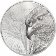 Majestic Eagle Silver 3 oz Proof Silver Coin Mongolia 2020 2000 togrog