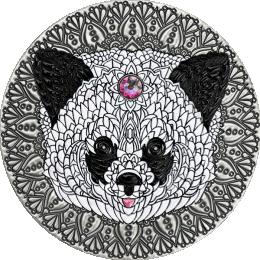 Panda Mandala Collection 2 oz Antique finish Silver Coin 5$ Niue 2021