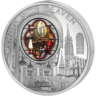 Cook Islands 2013 10$ Lourdes (France) Windows Of Heaven Proof-like Silver Coin