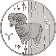 Ukraine 2006 5 Hryvnia's The Aries Proof Silver Coin