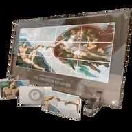 "Niue 2013 12 x 5$ Michelangelo's ""The Creation of Adam"" Giant Art Proof Silver Set"