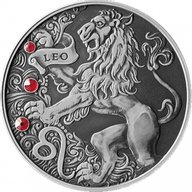 Belarus 2015 20 rubles Leo Signs of the zodiac  Antique finish Silver Coin