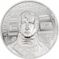 Napoleon 200th Anniversary 1 oz Proof Silver Coin 1 pound Saint Helena 2021