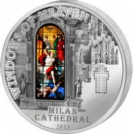 Cook Islands 2013 10$ Milan Cathedral Windows Of Heaven Proof-Like Silver Coin