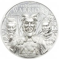 Terracotta Warriors  1 oz Proof Silver Coin 5$ Cook Islands 2021