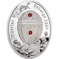 Niue 2012 1$ Rosebud Egg Imperial Faberge Eggs Proof Silver Coin