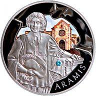 Belarus 2009 20 rubles The Three Musketeers. Aramis Silver Proof