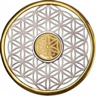 Flower of Life Symbols of Life 7.5 g Silver & 1 g Golg Proof-like Coin 10$ Barbados 2020