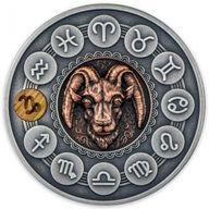 Capricorn Zodiac Signs 1oz Antique finish Silver Coin 1$ Niue 2020