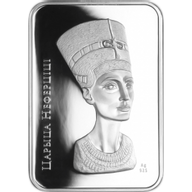 Belarus 2010 20 rubles Nefertiti World of sculptures Proof Silver Coin