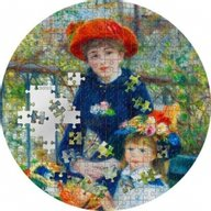 Micropuzzle Treasures Two Sisters - Renoir 3oz Proof Silver Coin 20$ Palau 2020