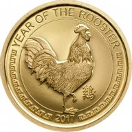 Mongolia 2017 1000 togrog Lunar Year of the Rooster Proof Gold Coin