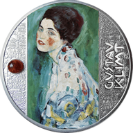 Portrait of a Lady Gustav Klimt  Proof Silver Coin 500 Francs CFA Cameroon 2021