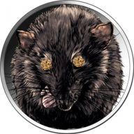 Year of the Rat 1 oz BU Silver Coin 5 Cedis Republic of Ghana 2020
