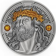 Christ The Savior 2 oz Antique finish Silver Coin 2000 Francs Cameroon 2021