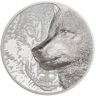Mystic Wolf 3 oz Proof Silver Coin 2000 togrog Mongolia 2021