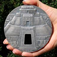Uxmal Masterpieces in Stone 1 kilo Antique finish Silver Coin 10000 Francs CFA Republic of Chad 2017