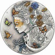 Anastasiya Dark Beauties 50g Antique Finish Silver Coin 2$ Niue 2020