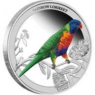Australia 2013 50 cents Rainbow Lorikeet Birds of Australia Series 1/2oz Proof Silver Coin