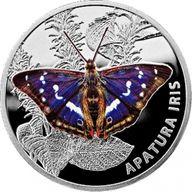 Apatura Iris Butterflies Proof Silver Coin 20 rubles Belarus 2013
